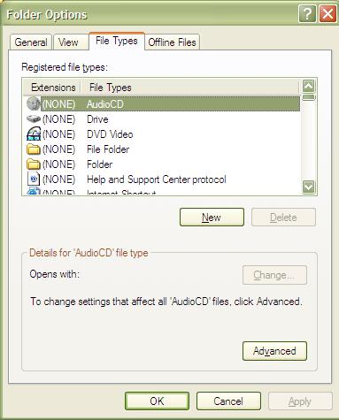 Dialog File Options