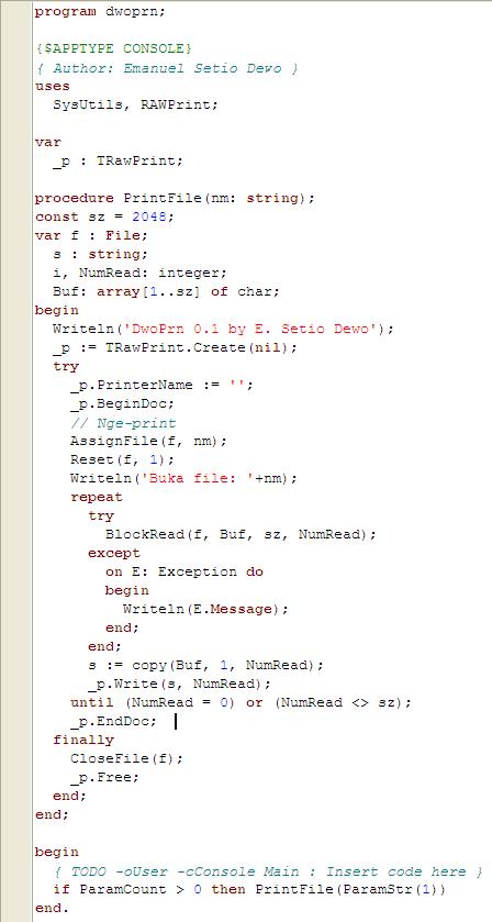 Source code dwoprn