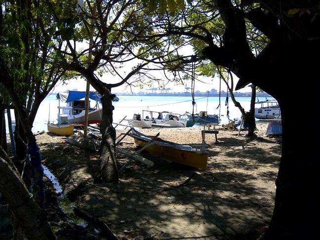 Salah satu sudut pemandangan kampung nelayan