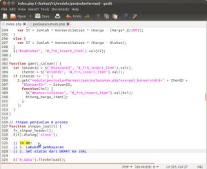 Sementara ditulis dulu di code