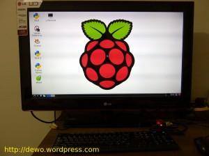 LXDE dengan logo Raspberry Pi