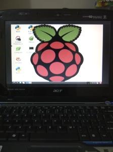 RPi meminjam display notebook