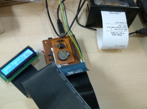 LCD 16x2, Arduino Uno, Shield Antrian dan Printer Thermal Mini