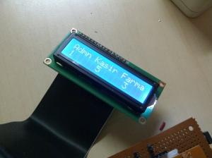 Tampilan LCD sebagai informasi utk pasien