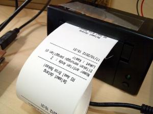 Printer thermal mini dengan info tanggal & jam dari RTC