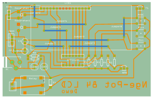 Desain Layout PCB nge-Pot 84 with LCD