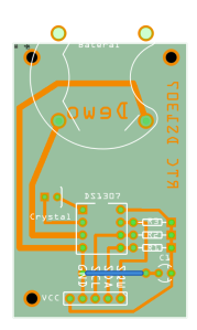 Desain breakout RTC DS1307 ala Dewo