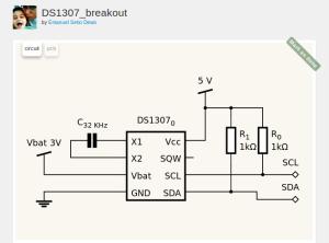 Iseng bikin skema RTC DS1307