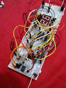 Tampilan Temperature Digital versi breadboard