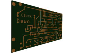Dewo LCD Clock