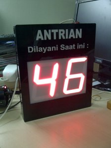 Tampilan Display Antrian