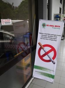 banner dilarang merokok