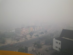 Kabut asap parah di Pekanbaru