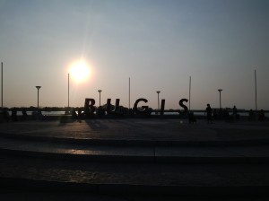 Senja hari di Pantai Losari