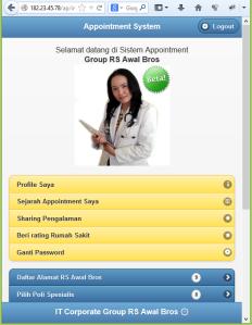 Versi Beta Sistem Appointment