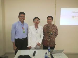 Saya, Pak Sumardi & dr. Erik Tapan