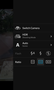 Setting HDR di kamera BlackBerry Z10