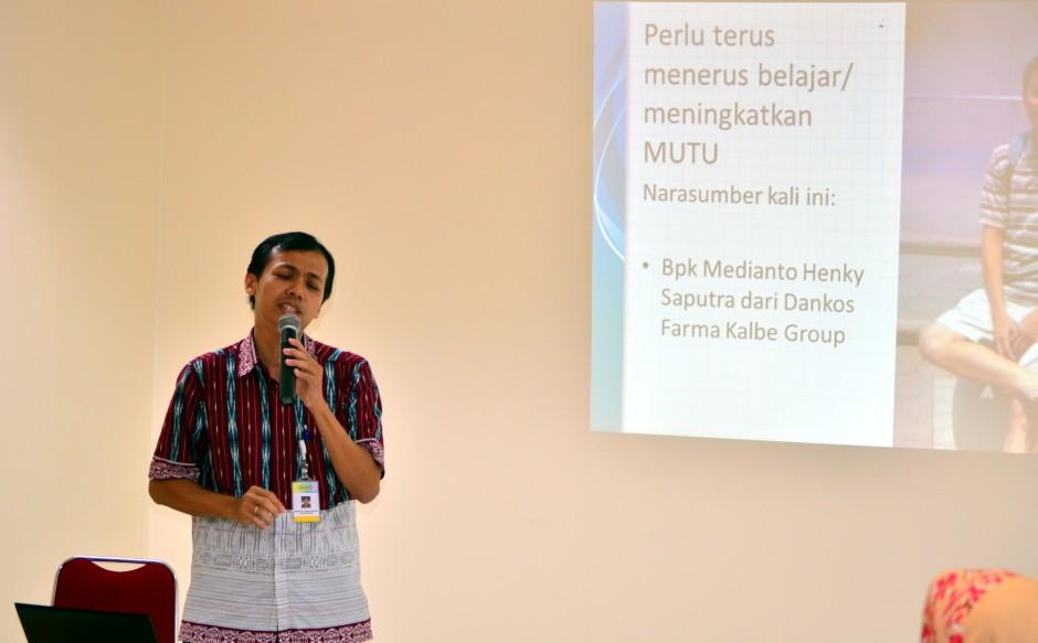 Bpk. Medianto Henky Saputra sebagai pemateri utama