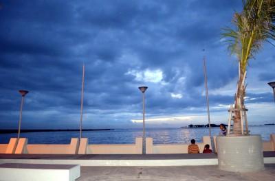 Pemandangan saat sudah petang
