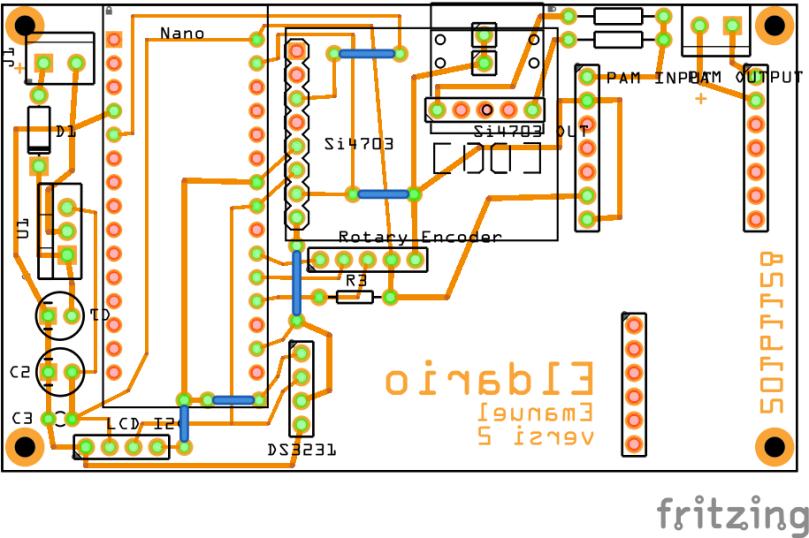 Layout Komponen di PCB