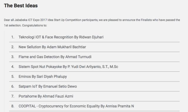 Daftar Finalis